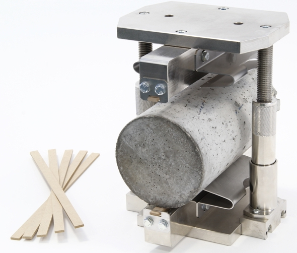 Splitting tensile test device for cylinders up to 160 mm diameter x 320 mm height. EN 12390-6 and ASTM C496